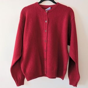 Pendelton Vintage Knockabouts Wool Red Cardigan XL